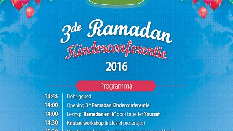 3e Ramadan Kinderconferentie, zondag 26 juni 2016