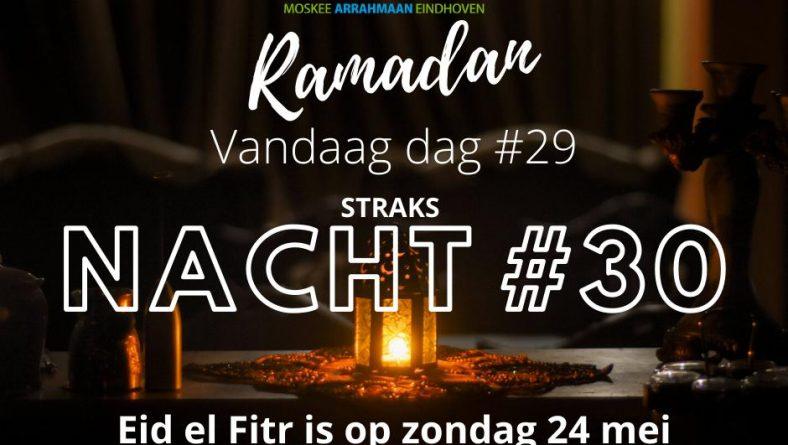 Eid Al fitr zondag 24-mei-2020