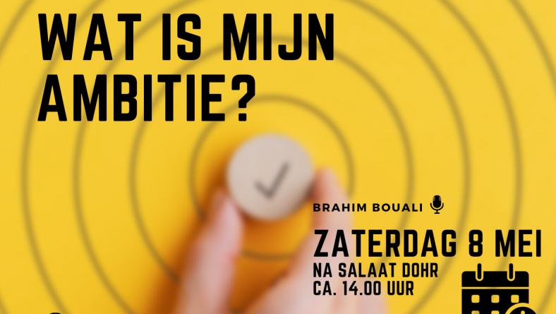 Nederlandstalige lezing: Wat is mijn ambitie?